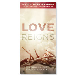 "Love Reigns 11"" x 5.5"" Oversized Postcards"
