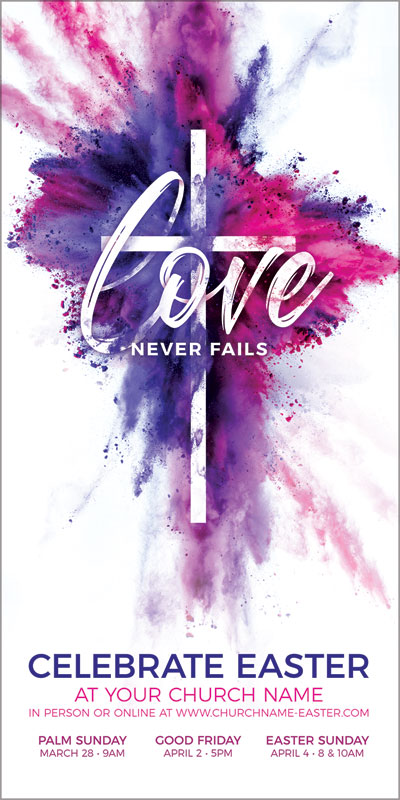 Church Postcards, Christmas, Love Never Fails, 5.5 x 11