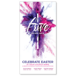 "Love Never Fails 11"" x 5.5"" Oversized Postcards"