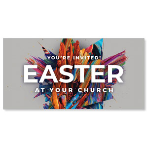 "CMU Easter Invite 2021 Grey 11"" x 5.5"" Oversized Postcards"