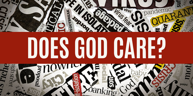 Church Postcards, Encouragement, Does God Care News, 5.5 x 11