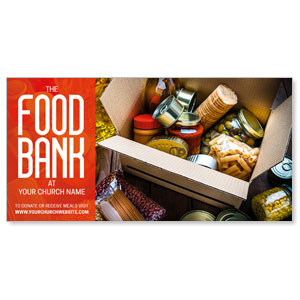"Food Bank Box 11"" x 5.5"" Oversized Postcards"