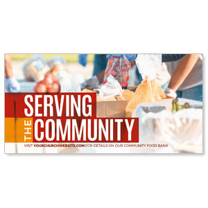 "Serve Community Food 11"" x 5.5"" Oversized Postcards"