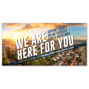 "Here For You Neighbors 11"" x 5.5"" Oversized Postcards"