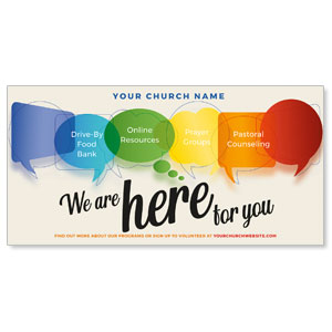 "Here For You Bubbles 11"" x 5.5"" Oversized Postcards"