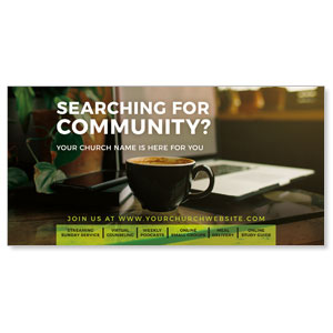 "Searching For Community 11"" x 5.5"" Oversized Postcards"