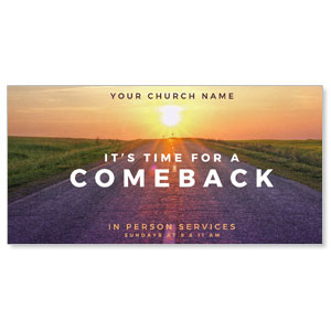"Comeback Sunrise 11"" x 5.5"" Oversized Postcards"