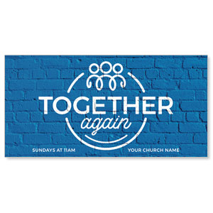 "Together Again Circle 11"" x 5.5"" Oversized Postcards"