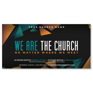 "We Are The Church 11"" x 5.5"" Oversized Postcards"