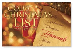 God's Christmas List PersonalizedCard