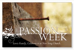 Passion Week PersonalizedCard
