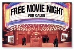 Free Movie Night PersonalizedCard