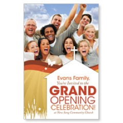 Grand Opening People PersonalizedCard