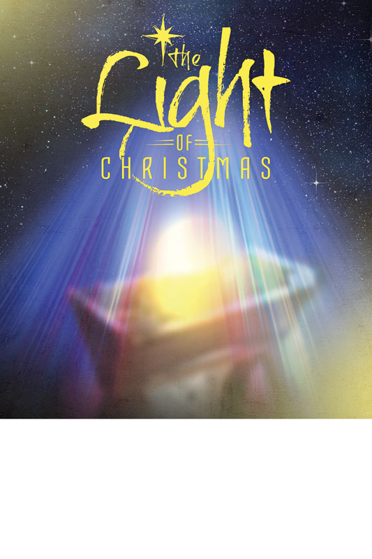 The Light Of Christmas Poster Church Invitations