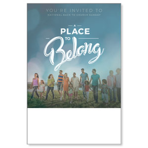 Back to Church Sunday: A Place to Belong Posters