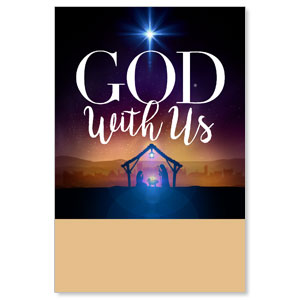 God With Us Advent Posters