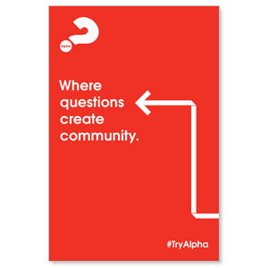 Alpha Arrow Create Community Red Posters