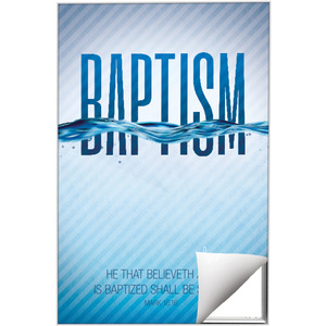 Baptism Blue Wall Art