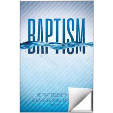 Baptism Blue Wall Art
