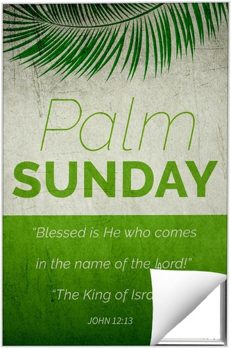 Wall Art, Easter, Color Block Palm Sunday, 24 x 36