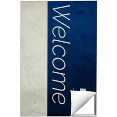 Color Block Welcome Wall Art