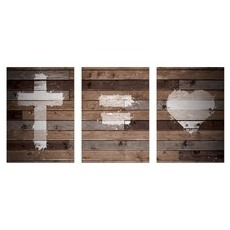 Cross Equals Love Wall Art