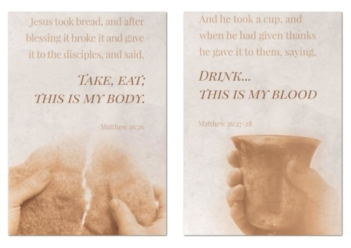 Wall Art, Scripture, Matthew 26 Pair, 24 x 36