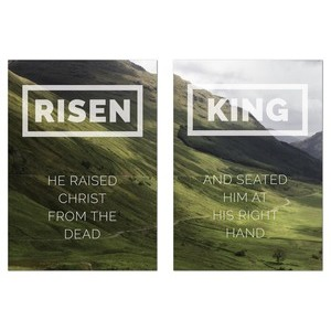 Risen King Hillside Pair 24 x 36 Quick Change Art