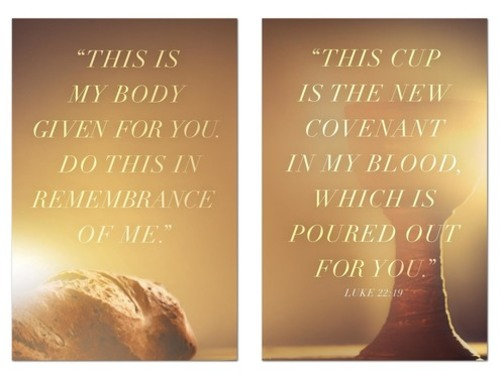 Wall Art, Scripture, Luke 22 Pair, 24 x 36
