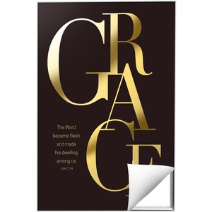 Gold Letters Grace 24 x 36 Quick Change Art