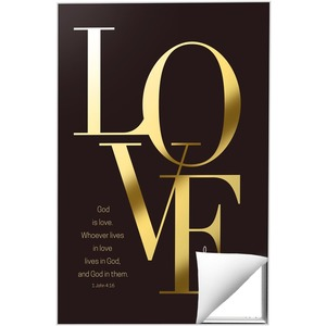 Gold Letters Love 24 x 36 Quick Change Art