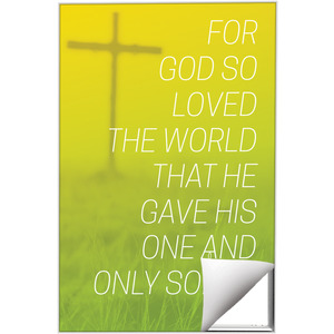 Color Wash John 3:16 24 x 36 Quick Change Art