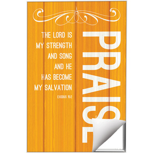 Painted Wood Praise Wall Art
