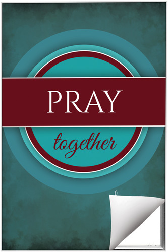 Wall Art, Directional, Together Circles Pray, 24 x 36