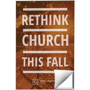 Rethink Church 24 x 36 Quick Change Art