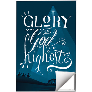 Glory to God Blue Wall Art
