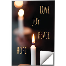 Candle Advent Words Wall Art