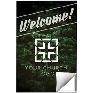 Christmas Tree Welcome Wall Art