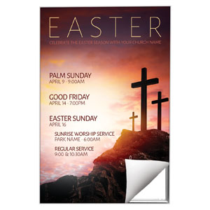 Easter Crosses Hilltop 24 x 36 Quick Change Art