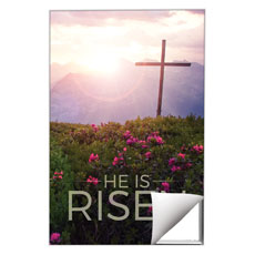 He Is Risen Mountain Wall Art