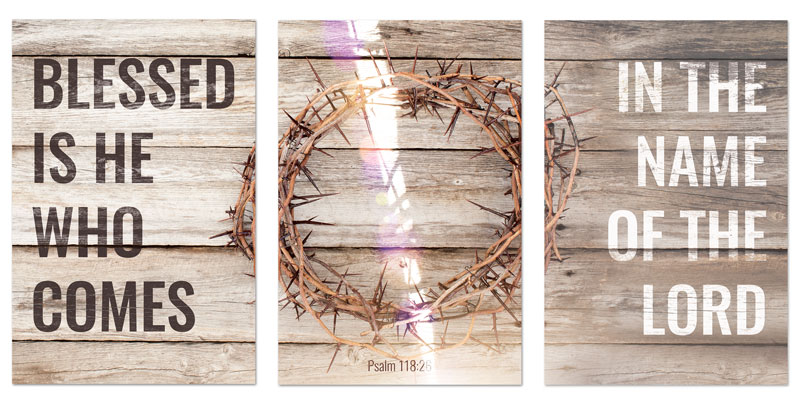 Blessed Is He Quick Change Art - Church Wall Art - Outreach Marketing