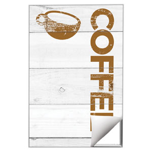 Shiplap Coffee White 24 x 36 Quick Change Art