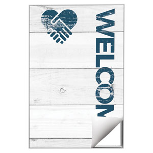 Shiplap Welcome White Wall Art