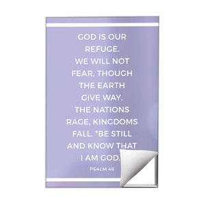 Shimmer Psalm 46 Wall Art