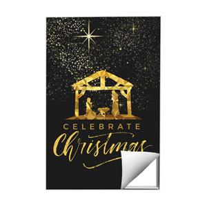 Black and Gold Nativity 24 x 36 Quick Change Art