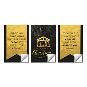 Black and Gold Nativity Wall Art