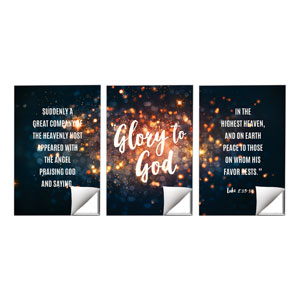 Glory to God Stars Wall Art