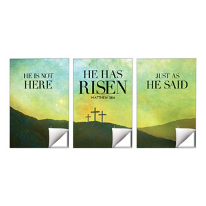 He Has Risen Matt 28:6 24 x 36 Quick Change Art