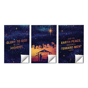 Glorious Night Triptych Wall Art