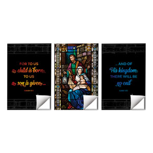 Christmas Stained Glass Scripture Wall Art